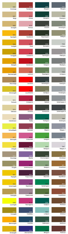 RAL värvikaart
